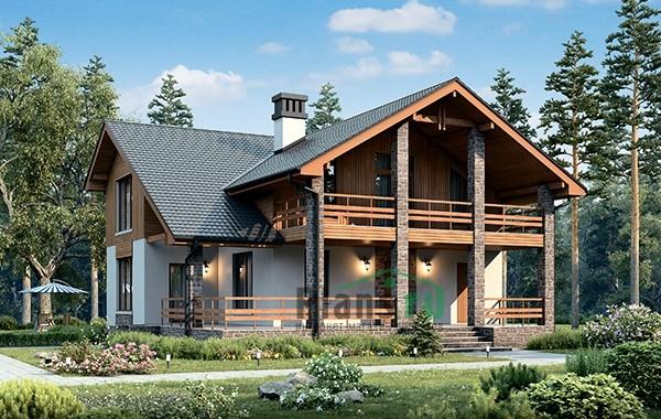 Проект бетонного дома 56-53