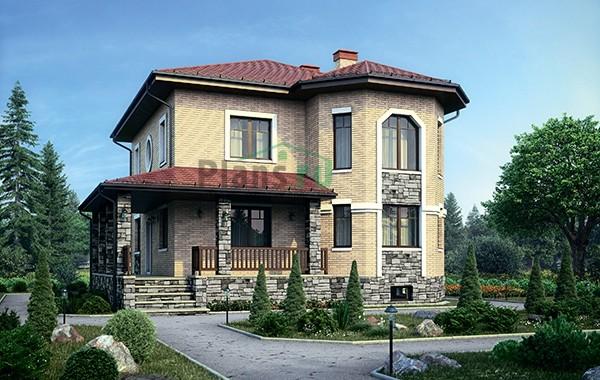 Проект бетонного дома 56-54