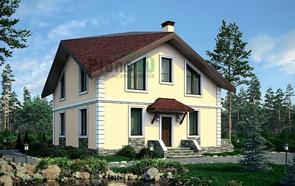 Проект бетонного дома 56-57