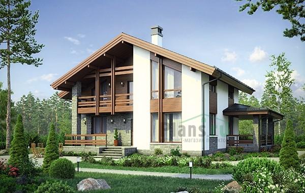 Проект бетонного дома 56-58