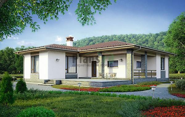 Проект бетонного дома 56-72