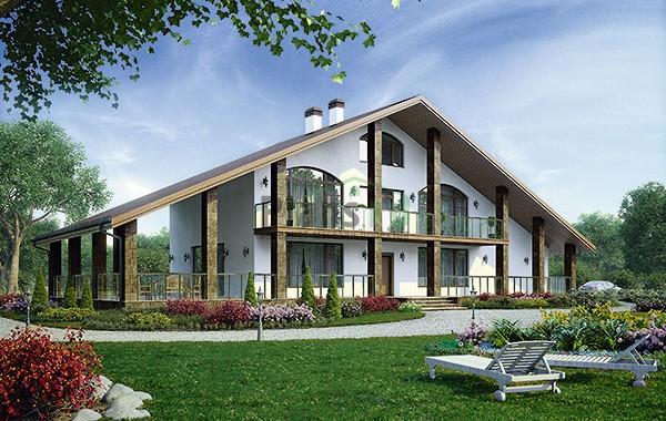 Проект бетонного дома 56-73