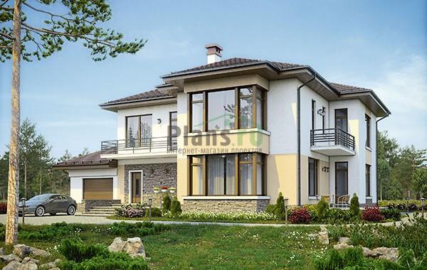 Проект бетонного дома 56-75
