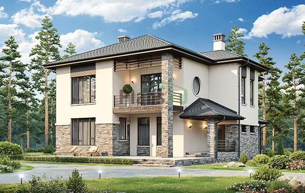 Проект бетонного дома 56-77
