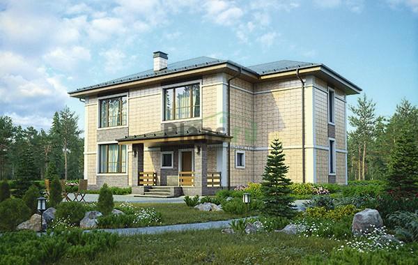 Проект бетонного дома 56-79