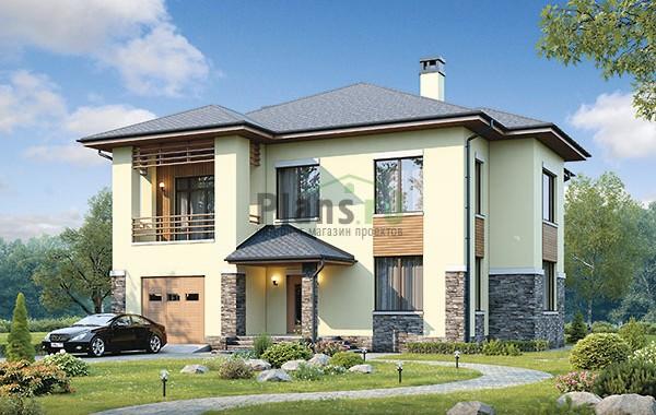 Проект бетонного дома 56-86