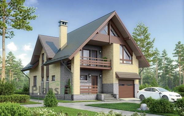 Проект бетонного дома 57-07
