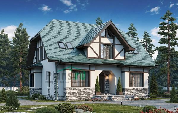 Проект бетонного дома 57-08