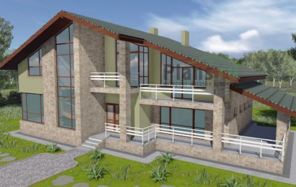 Проект бетонного дома 57-22