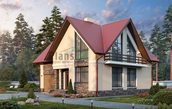 Проект бетонного дома 57-55