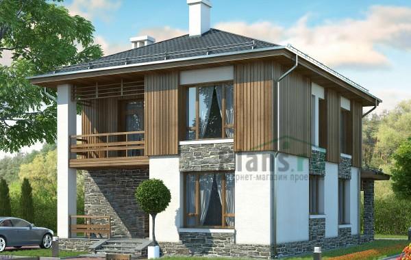Проект бетонного дома 57-80