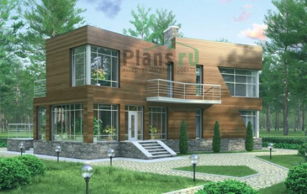 Проект бетонного дома 57-85