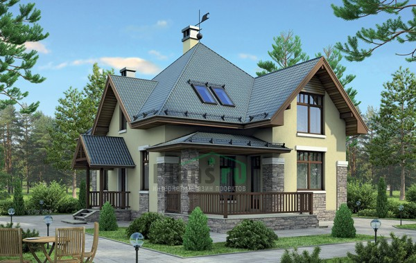 Проект бетонного дома 57-95