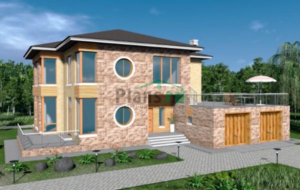 Проект бетонного дома 57-97