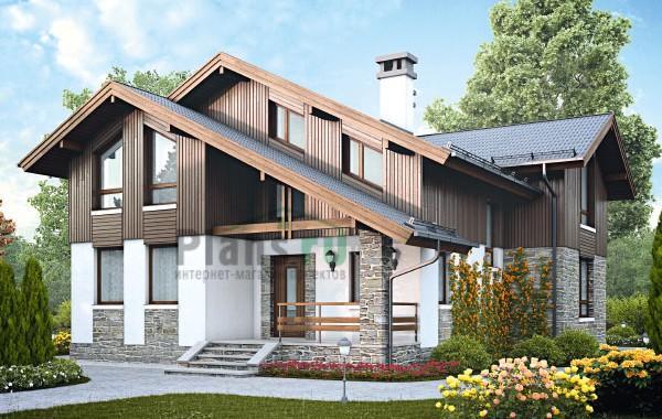 Проект бетонного дома 58-06