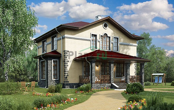 Проект бетонного дома 58-21