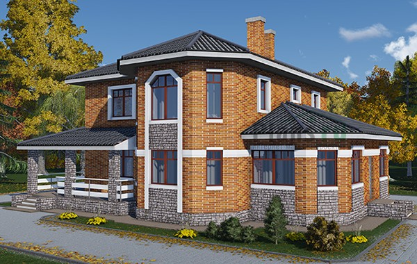 Проект бетонного дома 58-42