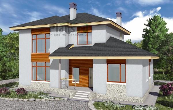 Проект бетонного дома 58-43