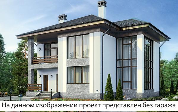 Проект бетонного дома 58-47