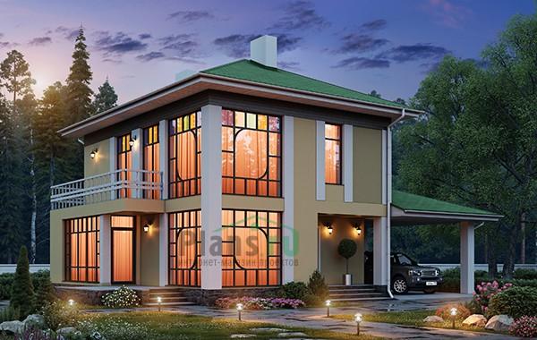 Проект бетонного дома 58-48