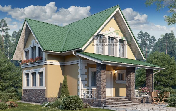 Проект бетонного дома 58-77