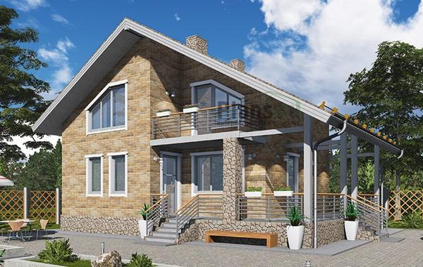Проект бетонного дома 58-94