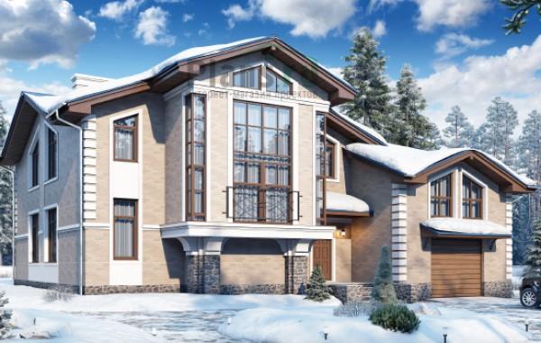 Проект бетонного дома 58-99