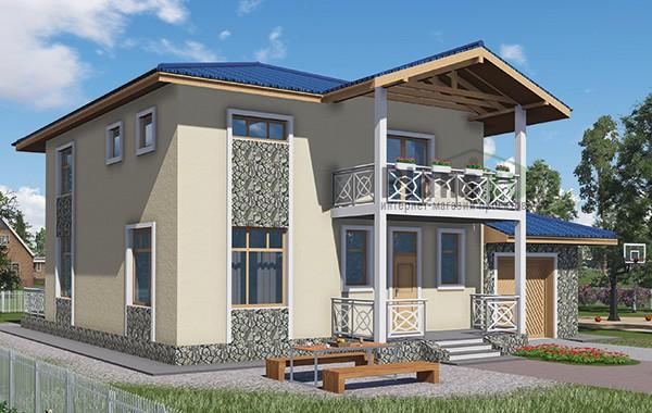 Проект бетонного дома 59-03