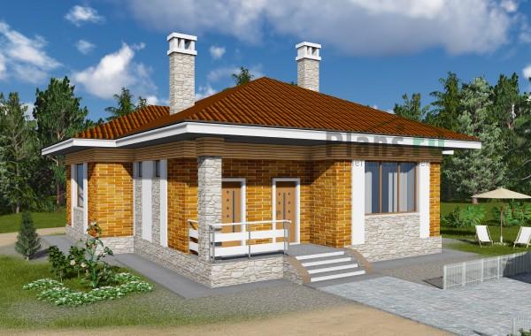 Проект бетонного дома 59-11