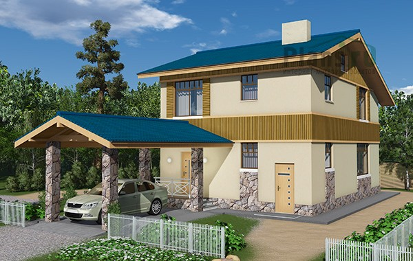 Проект бетонного дома 59-39