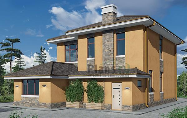 Проект бетонного дома 59-44