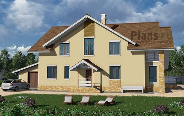 Проект бетонного дома 59-46