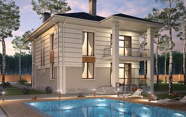 Проект бетонного дома 60-04