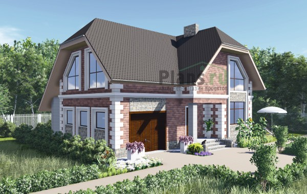 Проект бетонного дома 60-08