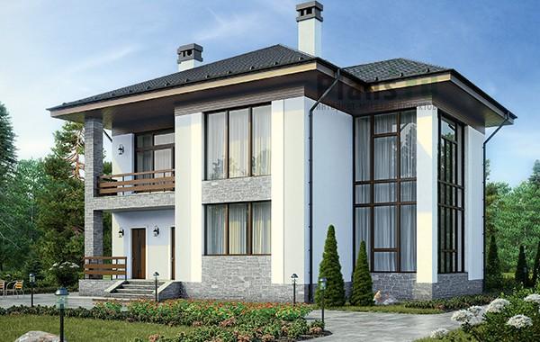 Проект бетонного дома 60-15