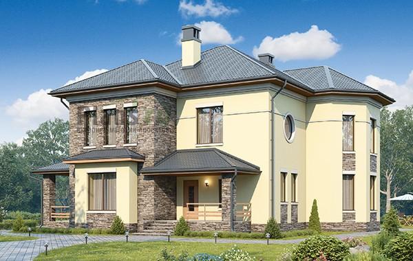 Проект бетонного дома 60-18
