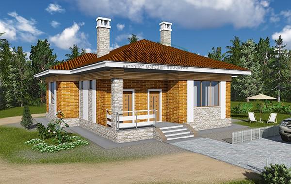 Проект бетонного дома 60-23