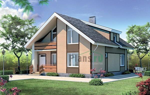 Проект кирпичного дома 70-36