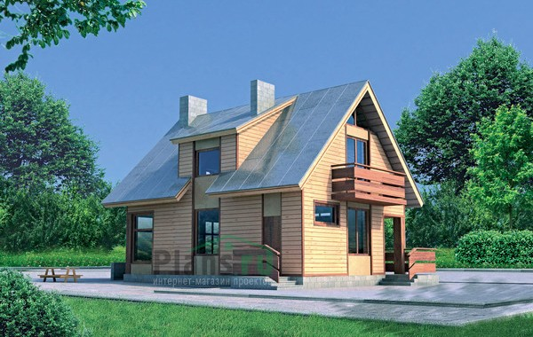 Проект кирпичного дома 70-40