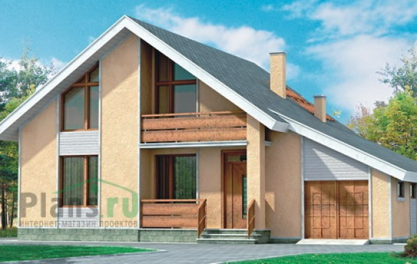 Проект кирпичного дома 70-43