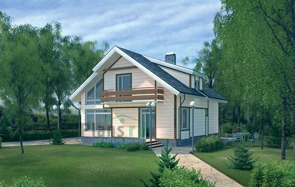 Проект кирпичного дома 70-44