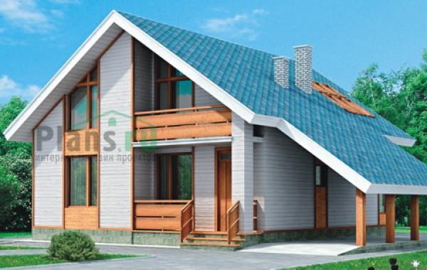 Проект кирпичного дома 70-45