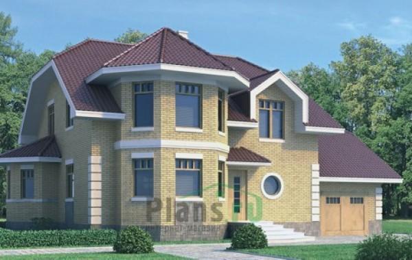 Проект кирпичного дома 70-48