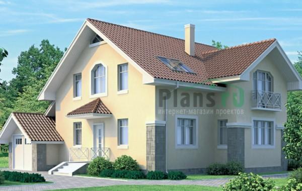 Проект кирпичного дома 70-52