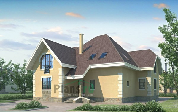 Проект кирпичного дома 70-55