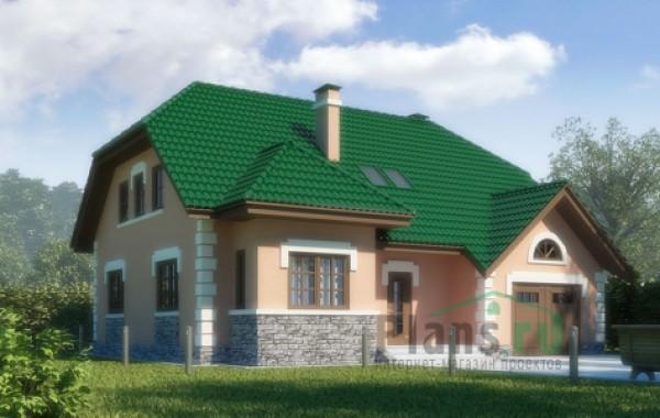 Проект кирпичного дома 70-57