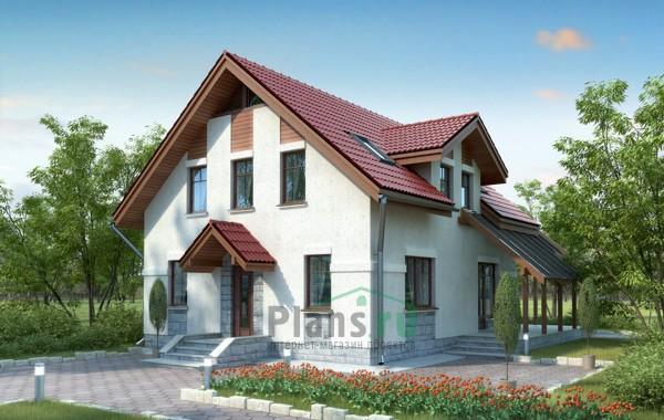 Проект кирпичного дома 70-58
