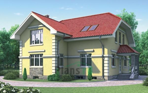Проект кирпичного дома 70-71