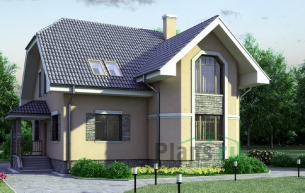 Проект кирпичного дома 70-86