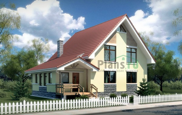 Проект кирпичного дома 70-96